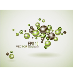 Abstract background with multicolored balls vector