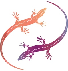 abstract colorfull decorative lizards vector image