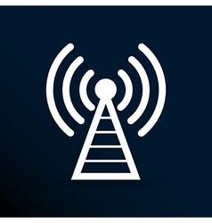 Antenna icon tower radio mast signal antenna vector