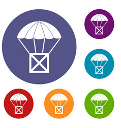 Balloon icons set vector