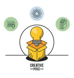 creative mind design vector image vector image
