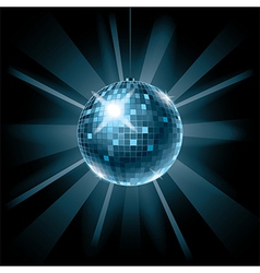 disco ball on dark vector image