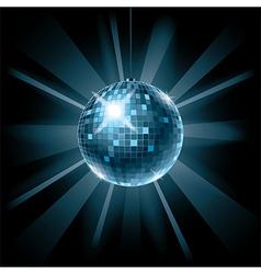 disco ball on dark vector image vector image