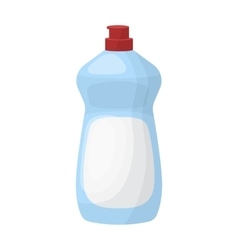 Dishwashing soap icon in cartoon style isolated on vector image