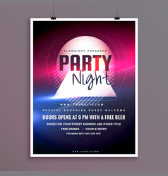 Elegant party night music flyer template design vector