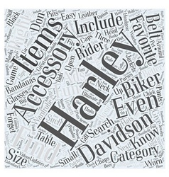 Finding the right harley accessory word cloud vector