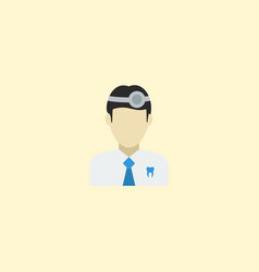 Flat icon dentist element of vector