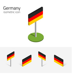 Germany flag set of 3d isometric icons vector