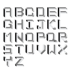 impossible Alphabet Type vector image vector image