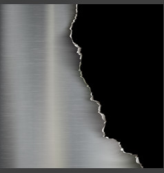 Industrial background of torn metal vector