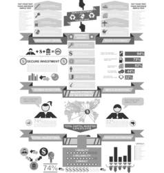 Infographic demographics business vector