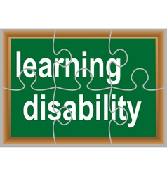 learning disability vector image