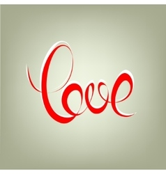 love curly calligraphy sign vector image vector image