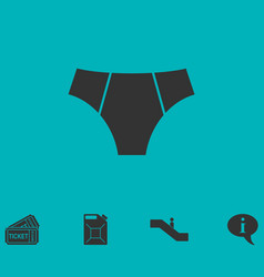 Male underpants icon flat vector
