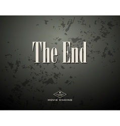 Movie ending vector image