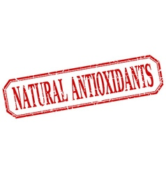 Natural antioxidants square red grunge vintage vector