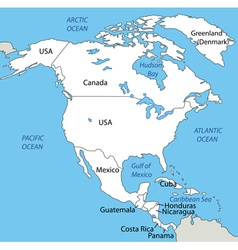North America - map vector image vector image