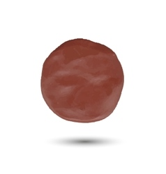 Piece of brown clayround spot vector