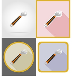 Repair tools flat icons 13 vector
