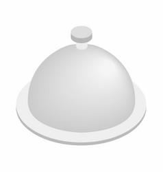 Restaurant cloche isometric 3d icon vector image vector image