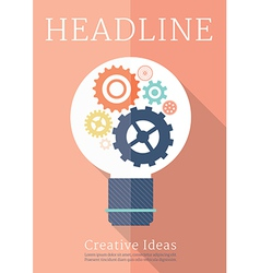 Retro business creative ideas poster vector image vector image