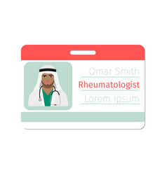 Rheumatologist medical specialist badge vector