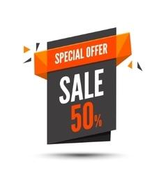 Sale banner marketing background big sale tag vector