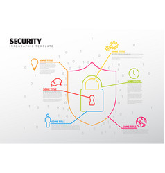 Security infographic report template vector