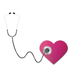 Stethoscope and heart vector