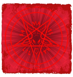 symbol of Satan vector image