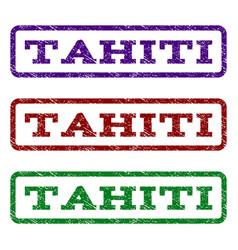 Tahiti watermark stamp vector
