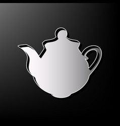 Tea maker kitchen sign gray 3d printed vector