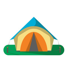 Tourist camp tent icon isolated vector