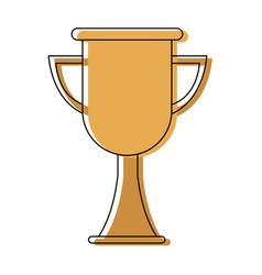 Trophy school award celebration object vector