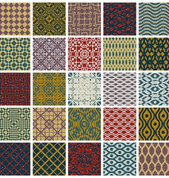 Vintage tiles with grunge textures seamless vector image vector image