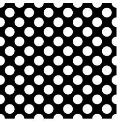 white circles on a black background seamless vector image