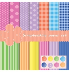 Set different paper for scrapbook vector