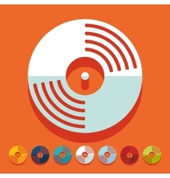 Flat design vinyl record vector