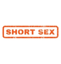 Short sex rubber stamp vector