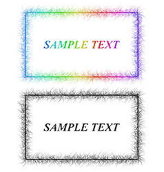 Colorful and black sketch card frame designs vector