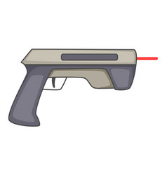 Laser beam pistol icon cartoon style vector