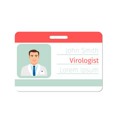 virologist medical specialist badge template vector image