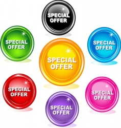 Special offer buttons vector