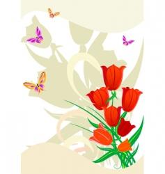 Flower red vector