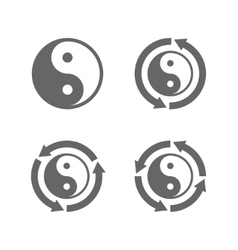 Ying yang eternal moving energy icon vector