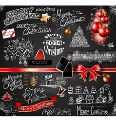 2014 christmas vintage typograph design elements vector