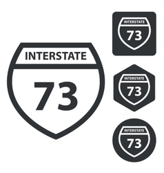 Interstate 73 icon set monochrome vector