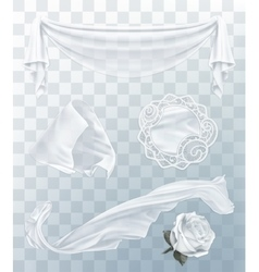 White cloth with transparency vector image