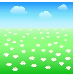 Field with daisies vector