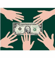 Dollar hands vector